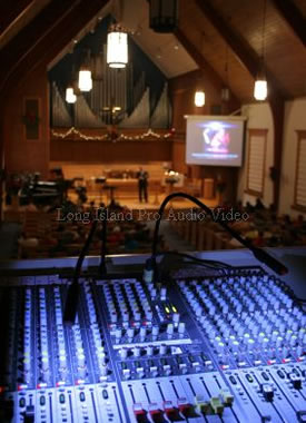 audio and video sound system installation for church